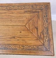 Carved Oak Long Coffee Table